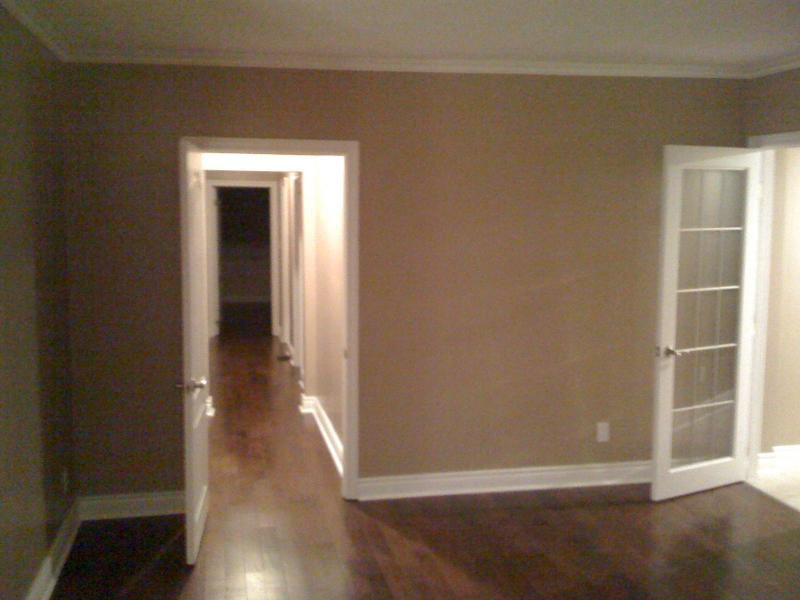 installed doors,crown molding, base and hardwood flooring