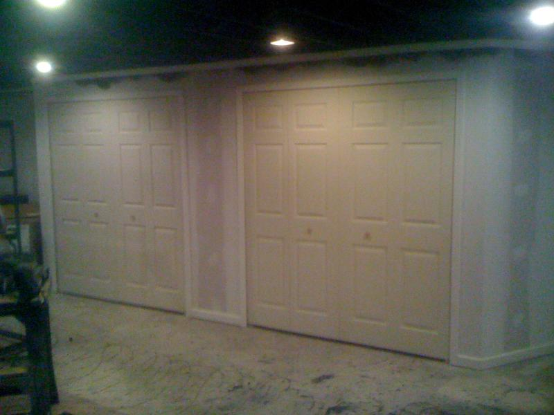 studs built out and drywalled in Farmington Hills