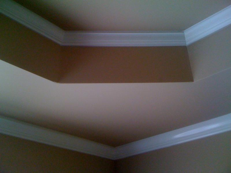 bedroom painting with crown molding installation