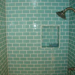 "mint 2"" by 4"" subway tile install"
